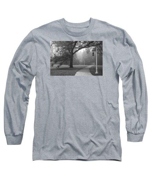 Foggy Msu Morning  Long Sleeve T-Shirt