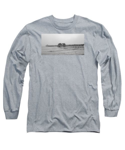 Foggy Pier Long Sleeve T-Shirt by Sean Allen