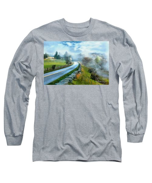 Foggy Spring Morning In Doughton Blue Ridge Parkway Ap Long Sleeve T-Shirt