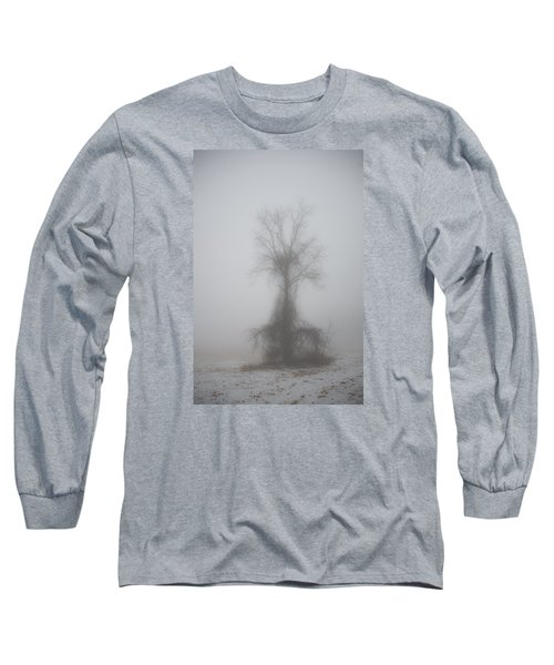 Long Sleeve T-Shirt featuring the photograph Foggy Walnut by Wanda Krack