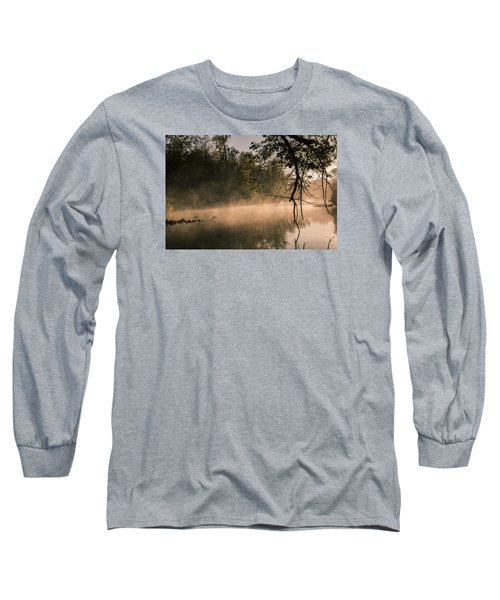 Long Sleeve T-Shirt featuring the photograph Foggy Water by Annette Berglund