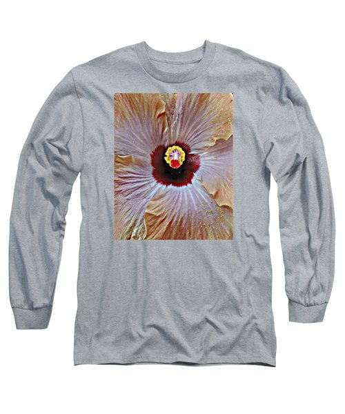 Long Sleeve T-Shirt featuring the photograph Folding Petals by Peggy Stokes
