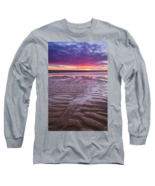 Folds In The Sand - Vertical Long Sleeve T-Shirt