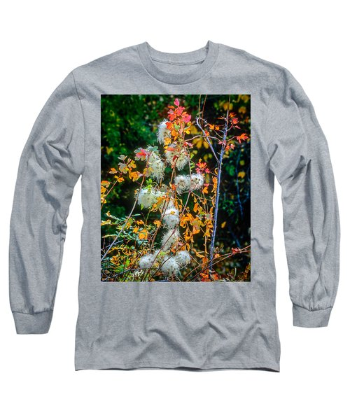 Foliage Twisted Colored Leaves Long Sleeve T-Shirt by John Brink