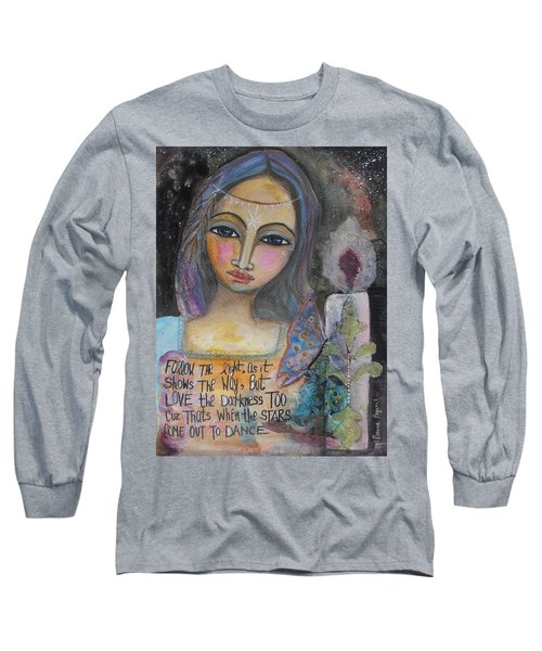Long Sleeve T-Shirt featuring the painting Follow The Light by Prerna Poojara