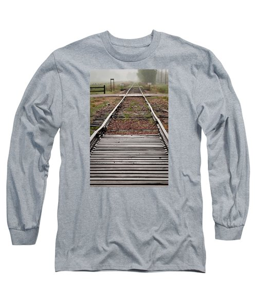 Long Sleeve T-Shirt featuring the photograph Following The Tracks by Monte Stevens