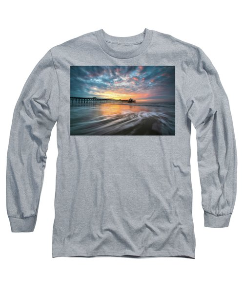 Folly Beach Sc Ocean Seascape Charleston South Carolina Scenic Landscape Long Sleeve T-Shirt