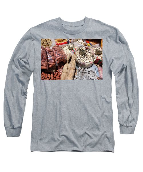 Long Sleeve T-Shirt featuring the photograph Food Market by Aidan Moran