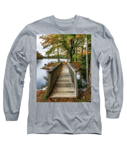 Foot Bridge At Linville Land Harbor Long Sleeve T-Shirt