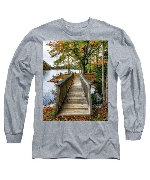 Foot Bridge At Linville Land Harbor Long Sleeve T-Shirt
