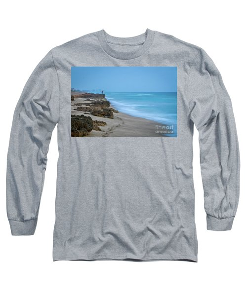 Footprints And Rocks Long Sleeve T-Shirt