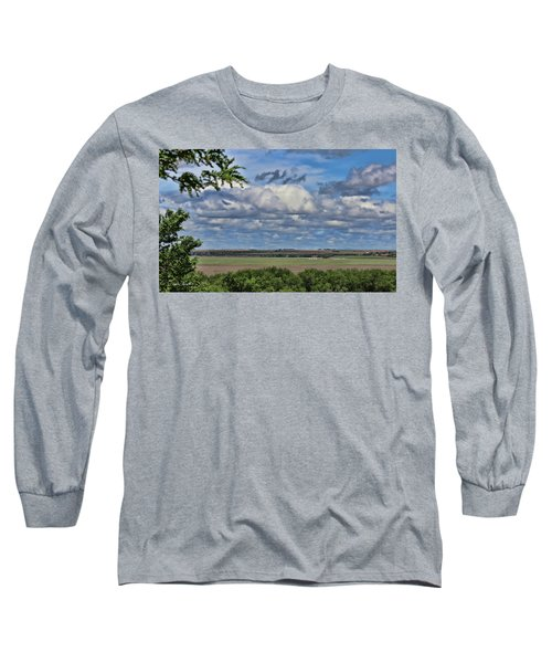 For Spacious Skies Long Sleeve T-Shirt by Sylvia Thornton