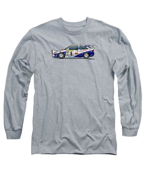 Ford Escort Mk5 Rs Cosworth Group A Rally Monte Carlo 1994 Long Sleeve T-Shirt