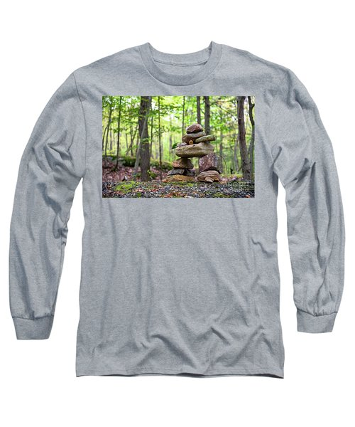 Forest Inukshuk Long Sleeve T-Shirt