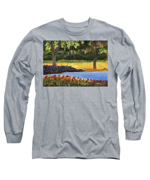 Long Sleeve T-Shirt featuring the painting Forest Lake by Jamie Frier