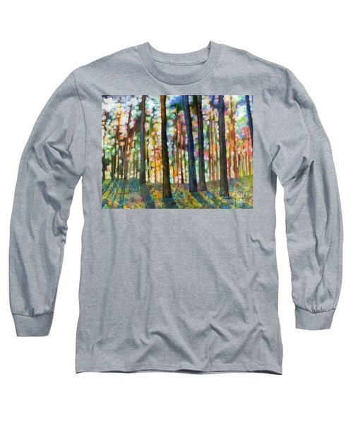Long Sleeve T-Shirt featuring the painting Forest Light by Hailey E Herrera