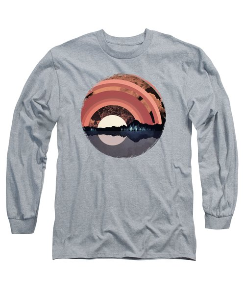 Forest Night Reflection Long Sleeve T-Shirt