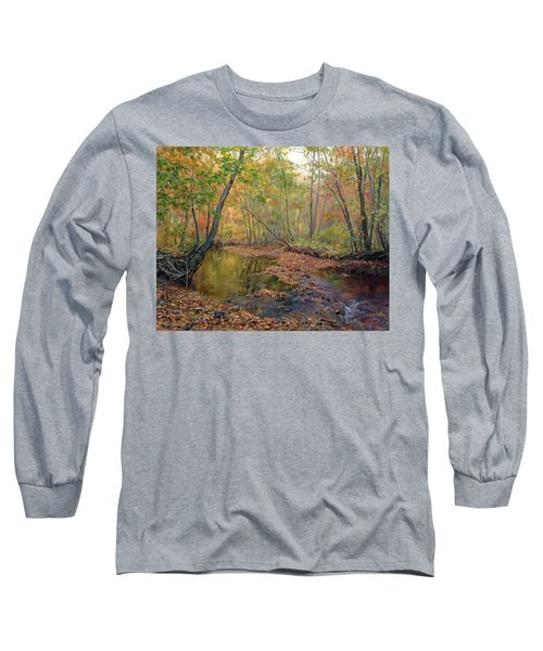 Forest River In Early Fall Long Sleeve T-Shirt