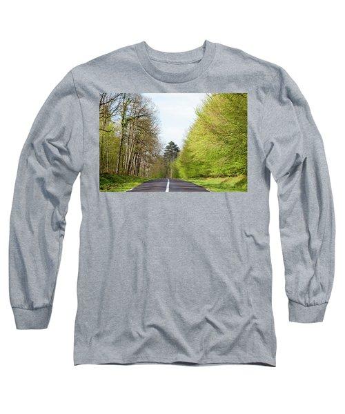 Forest Road Long Sleeve T-Shirt by Yoel Koskas