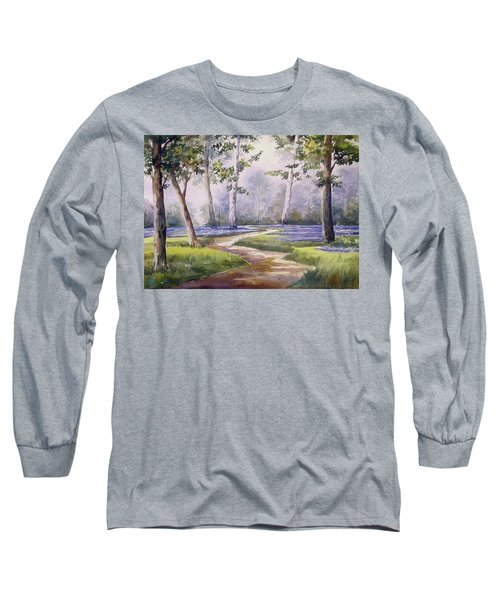 Long Sleeve T-Shirt featuring the painting Forest  by Samiran Sarkar