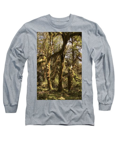Forest Setting In Hoh Rain Forest Long Sleeve T-Shirt