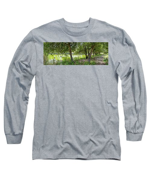 Long Sleeve T-Shirt featuring the photograph Forest Trail by Arik Baltinester