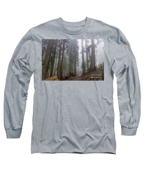 Long Sleeve T-Shirt featuring the photograph Forest Walking Path by Peggy Hughes