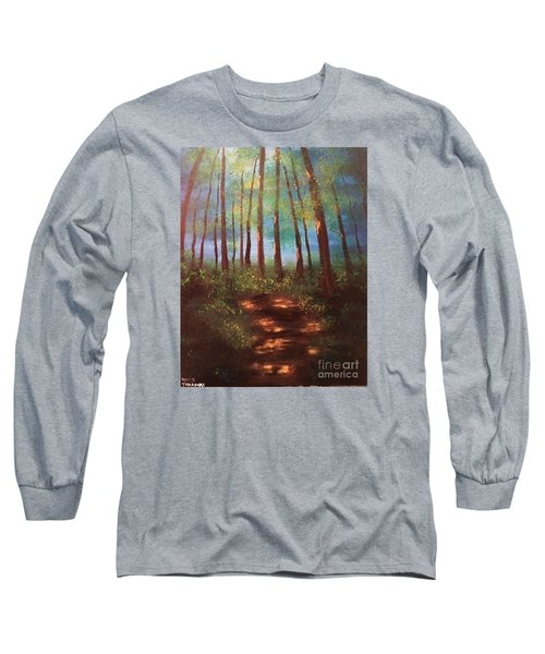 Forests Glow Long Sleeve T-Shirt by Denise Tomasura