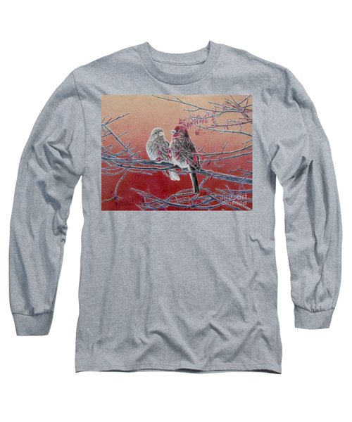 Forever Finch Long Sleeve T-Shirt by Pamela Clements