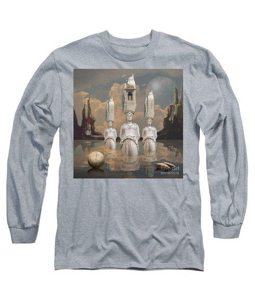 Long Sleeve T-Shirt featuring the digital art Forgotten Atlantis by Alexa Szlavics