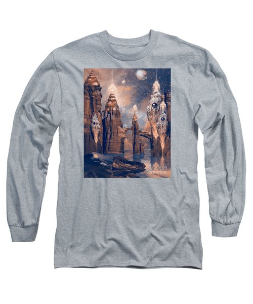 Long Sleeve T-Shirt featuring the digital art Forgotten Place by Alexa Szlavics