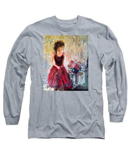 Long Sleeve T-Shirt featuring the painting Forgotten Rose by Jennifer Beaudet