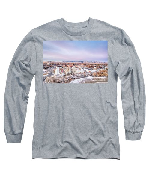 Fort Collins Aeiral Cityscape Long Sleeve T-Shirt