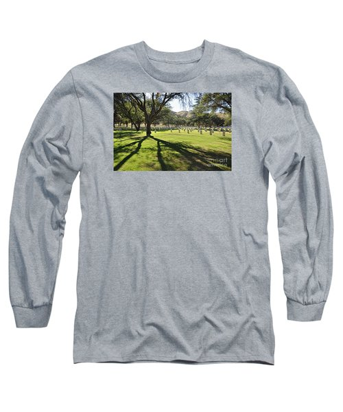 Long Sleeve T-Shirt featuring the photograph Fort Huachuca Post Cemetery by Gina Savage