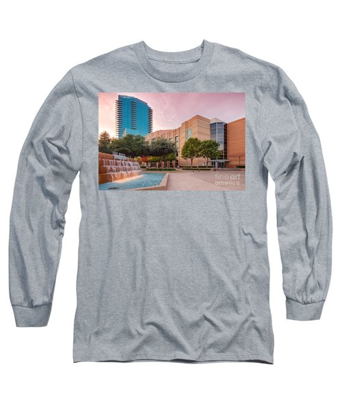 Fort Worth Water Gardens - Convention Center - Omni Hotel - Downtown Fort Worth - North Texas Long Sleeve T-Shirt