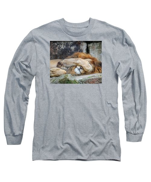 Fort Worth Zoo Sleepy Lion Long Sleeve T-Shirt