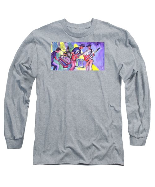 Long Sleeve T-Shirt featuring the painting Forty Oz To Freedom by David Sockrider