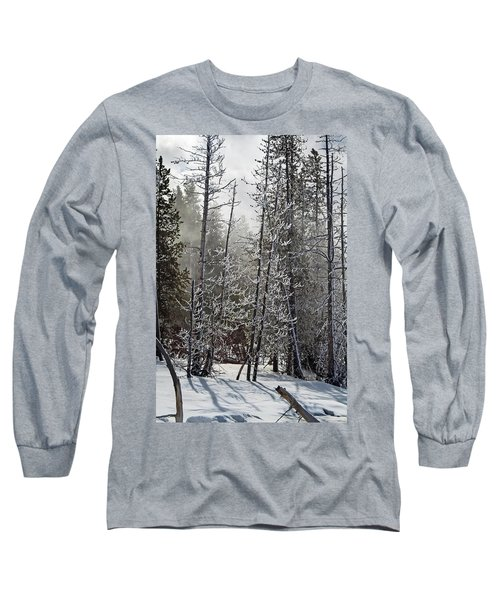 Fountain Paint Pots Shrouded In Snow And Ice Long Sleeve T-Shirt