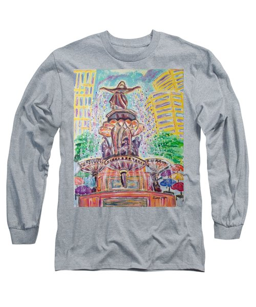 Fountain Square  Cincinnati  Ohio Long Sleeve T-Shirt