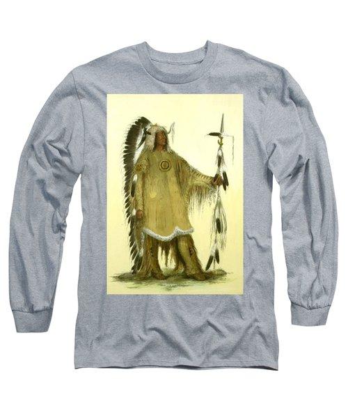 Four Bears Mandan Chief 1833 Long Sleeve T-Shirt