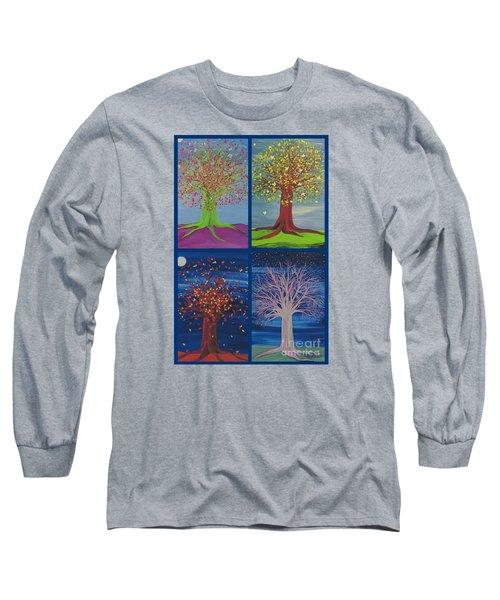 Four Seasons Trees By Jrr Long Sleeve T-Shirt