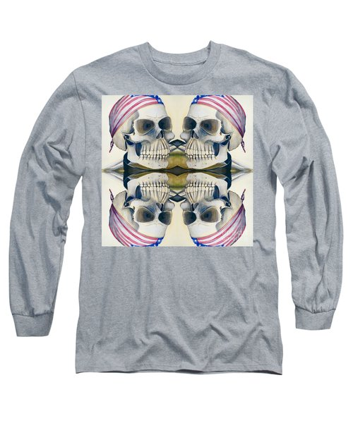 Four Skulls Long Sleeve T-Shirt