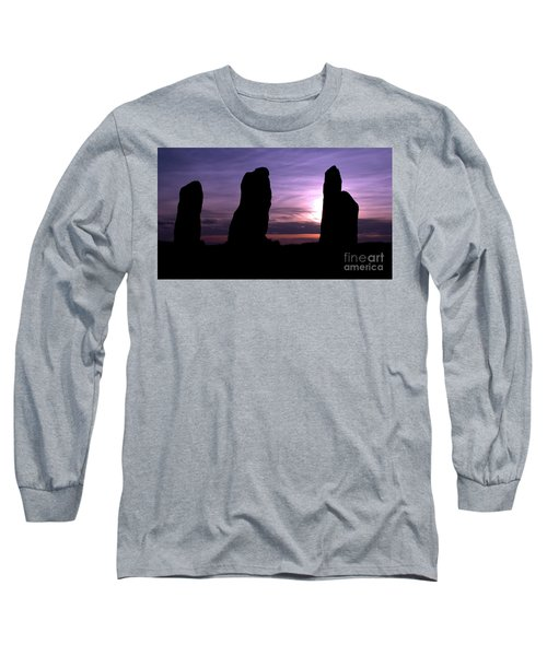 Long Sleeve T-Shirt featuring the photograph Four Stones Folly Clent Hills by Stephen Melia