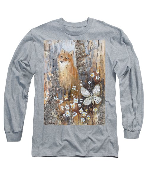 Fox And Butterfly Long Sleeve T-Shirt