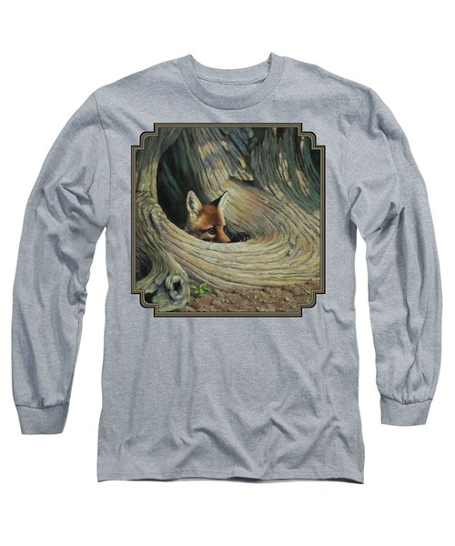Fox - It's A Big World Out There Long Sleeve T-Shirt by Crista Forest