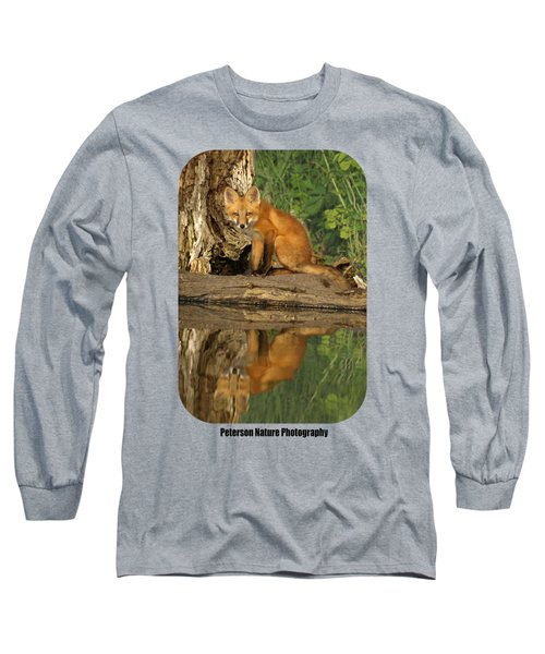 Fox Reflection Shirt Long Sleeve T-Shirt by James Peterson