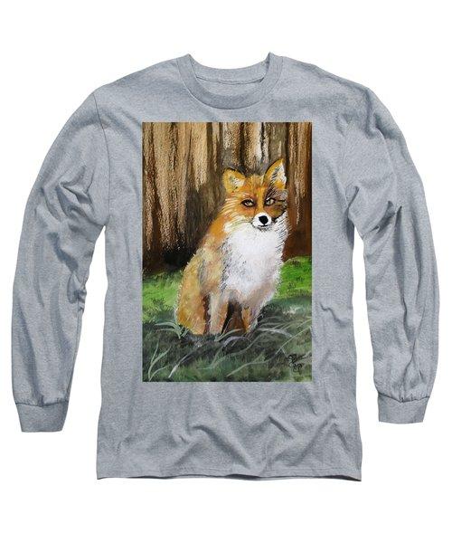 Foxy Lady Long Sleeve T-Shirt by Carole Robins
