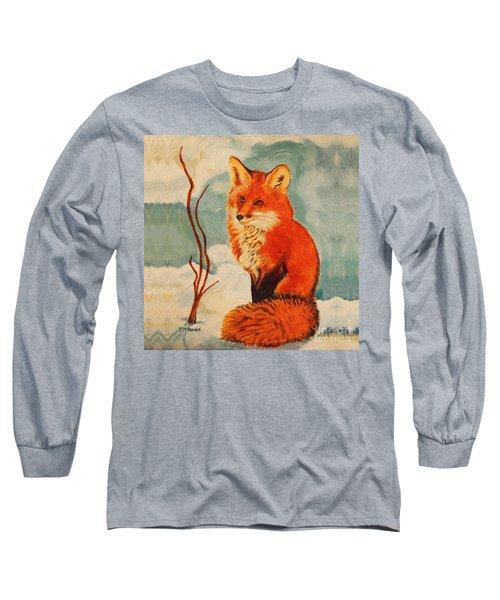 Foxy Presence Throw Pillow Long Sleeve T-Shirt