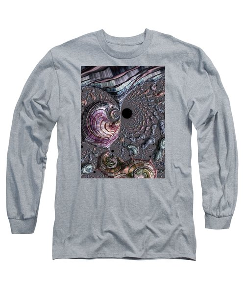 Long Sleeve T-Shirt featuring the photograph Fractal Beach by Ronda Broatch