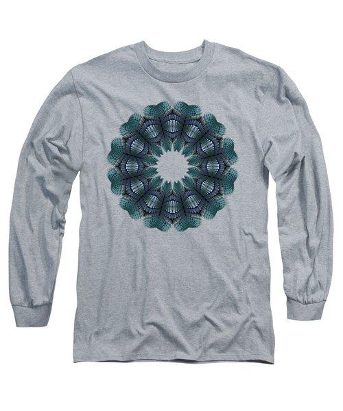 Fractal Wreath-32 Teal T-shirt Long Sleeve T-Shirt
